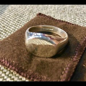 Large Classic Sterling Silver Ring